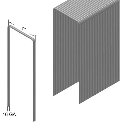 "16 Gauge Staple - 1-1/4"" Length - 1"" Crown - Steel - Galvanized - Pkg of 10000"