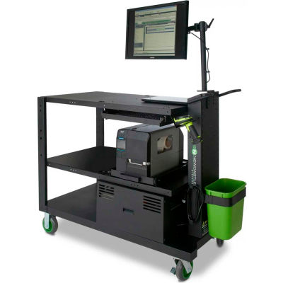 """Newcastle Systems PC Series Mobile Powered Workstation, 54""""W x 26""""D, 100AH Battery"""