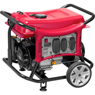 Powermate PC0143500, 3500 Watts, Portable Generator, Gasoline, Recoil Start, 120V