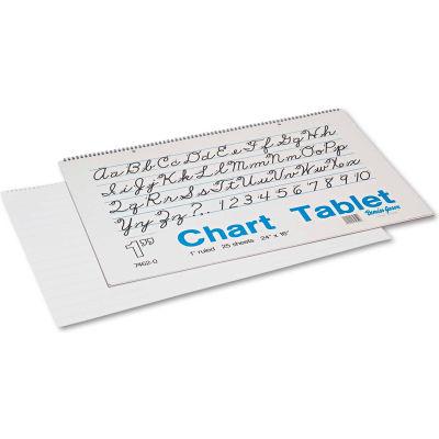 "Pacon® Chart Tablets w/Cursive Cvr 74620, 16"" x 24"", White, 25 Sheets"