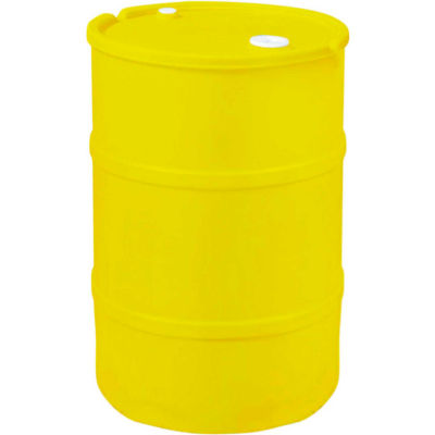 US Roto Molding 15 Gallon Plastic Drum SS-CH-15 - Closed Head with Bung Cover - Lever Lock - Yellow