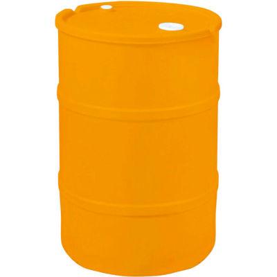 US Roto Molding 35 Gallon Plastic Drum SS-CH-35 - Closed Head with Bung Cover - Lever Lock - Orange