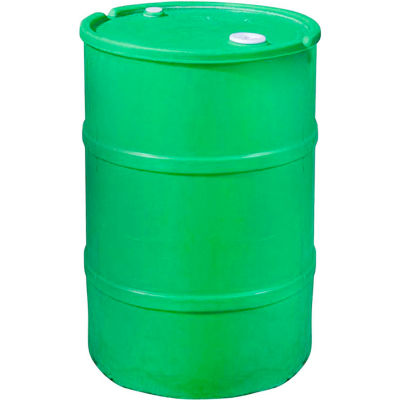 US Roto Molding 55 Gallon Plastic Drum SS-CH-55 - Closed Head with Bung Cover - Lever Lock - Green