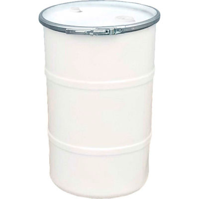 US Roto Molding 30 Gallon Plastic Drum SS-OH-30 - Open Head with Bung Cover - Lever Lock - Natural