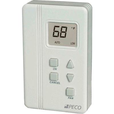 PECO Trane Compatible Zone Sensor SDP155-009 Digital Display,Temp Adj,On,Cancel,Fan(H,M,L,O)Comm Jac