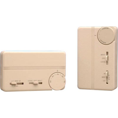 PECO Fan Coil Thermostat With Cool-On-Off Switch, 3-Speed Control and Terminal Block