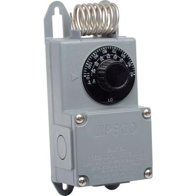 PECO Industrial Coiled Temperature Controller TF115-001 Temp. Range 40°-110°F w/ Nema 4X