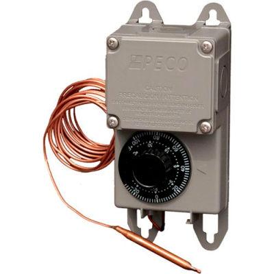 PECO Industrial Temperature Controller TRF115-007 Tmp. Range -30°-100°F Rmt. Bulb Nema 4X