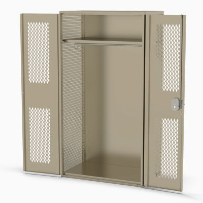 "Penco® Patriot Fully Framed TA-50 Locker W/Solid Doors & Sides 48""Wx24""Dx78""H, Gray,Unassembled"
