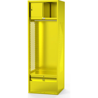 Penco® Fully Framed Stadium® Locker W/Shelf, Footlocker, Vented, 24Wx24Dx72H,Gr,All-Welded