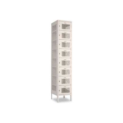 "Penco 6A393-722 Invincible II Locker, 8 Tier Basic Unit, 12""W x 12""D x 9""H, Patriot Red"