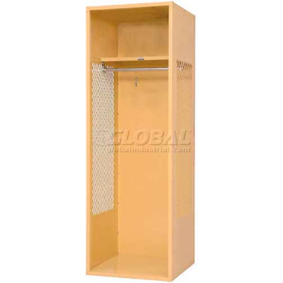 "Penco 6KFD01-949 Stadium® Locker With Shelf, 18""Wx18""Dx72""H, Jet Black, Unassembled"