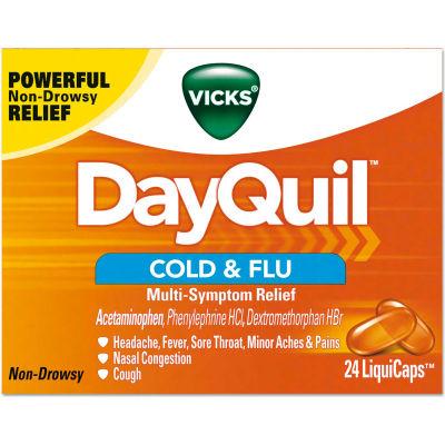 Vicks® DayQuil™ Cold & Flu LiquiCaps, 24/Box, 24 Box/Carton