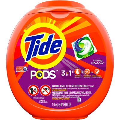 Tide PODS ® Detergent Packs, 72 Pods/Container, 4 Containers - 50978