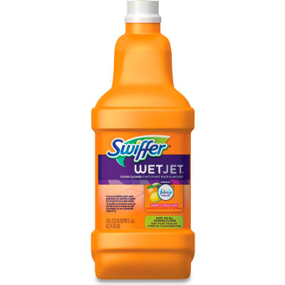 Swiffer® WetJet System Cleaning Solution Refill - Citrus Scent, 1.25 L Bottle, 4/Carton - 77812