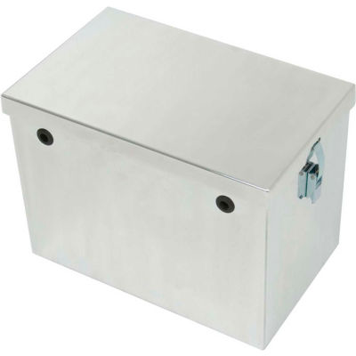 "Tow-Rax SP12BP 12"" Aluminum Battery Box  Polished Finish 9"" H x 11"" W x 12"" D"