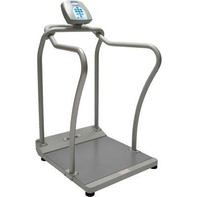 Health O Meter 2101KL Digital Bariatric Platform Scale 1000 x 0.2lb/454 x 0.1kg w/ Wheels, Handrails