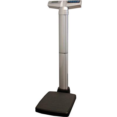 Health O Meter 499KL Waist High Digital Physician Scale 500 x 0.2lb/ 220 x 0.1kg w/ Wheels