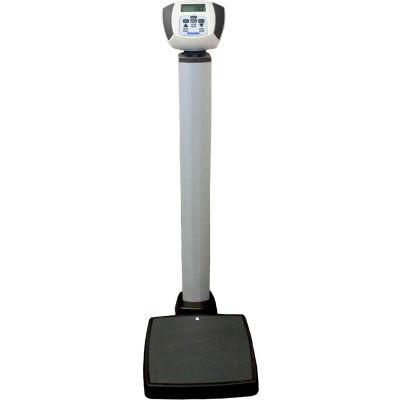 Health O Meter 599KL Digital Physician Scale 600 x 0.2lb/272 x 0.1kg, Eye Level w/ Wheels