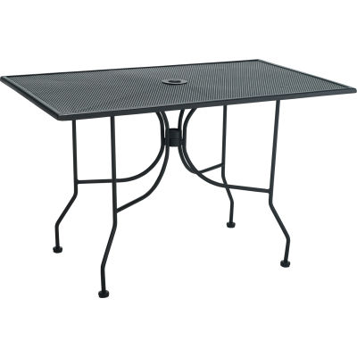 """Premier Hospitality Furniture 30"""" x 48"""" Rectangular Table Black With Butterfly Legs"""