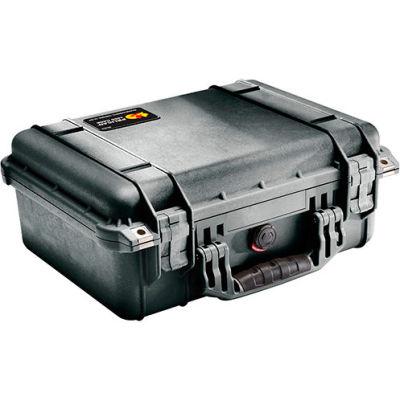 "Pelican 1450 Watertight Medium Case With Foam 14-11/16"" x 13"" x 6-13/16"", Black"