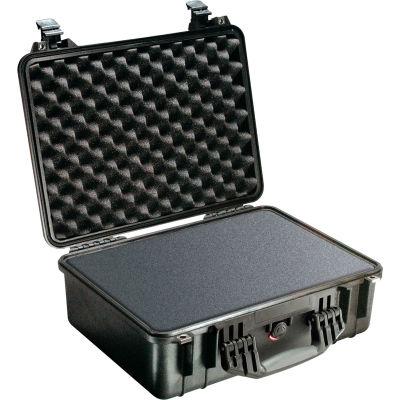 "Pelican 1520 Watertight Medium Case With Foam 19-3/4"" x 15-3/4"" x 7-7/16"", Black"