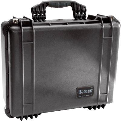 "Pelican 1550 Watertight Medium Case With Foam 20-11/16"" x 17-3/16"" x 8-3/8"", Black"