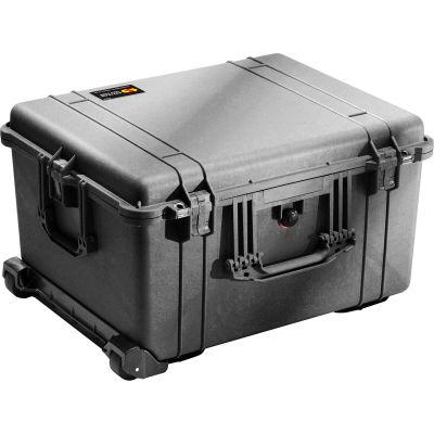 "Pelican 1620 Watertight Wheeled Large Case With Foam 24-3/4"" x 19-9/16"" x 13-7/8"", Black"