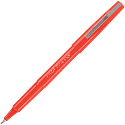 Pilot® Fineliner Marker Pen, Fine, Red Ink, 1 Each