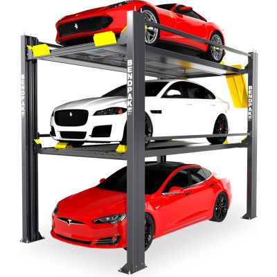 BendPak® Tri-Level Parking Lift 9,000 and 7,000 lb Capacity, Galvanized