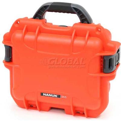 """Nanuk 905 Case, 12-1/2""""L x 10""""W x 6""""H, Orange"""
