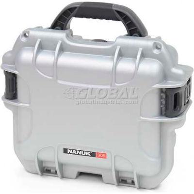 """Nanuk 905 Case, 12-1/2""""L x 10""""W x 6""""H, Silver"""