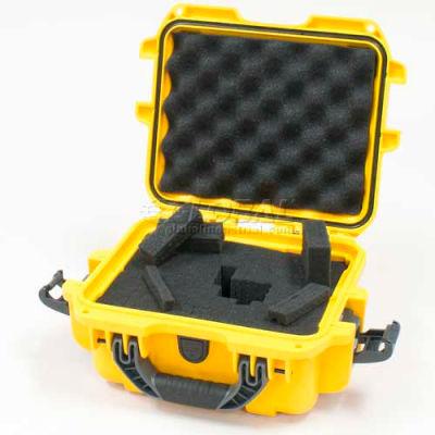"""Nanuk 905 Case w/Foam, 12-1/2""""L x 10""""W x 6""""H, Yellow"""