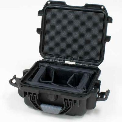 "Nanuk 905 Case w/Padded Divider, 12-1/2""L x 10""W x 6""H, Black"