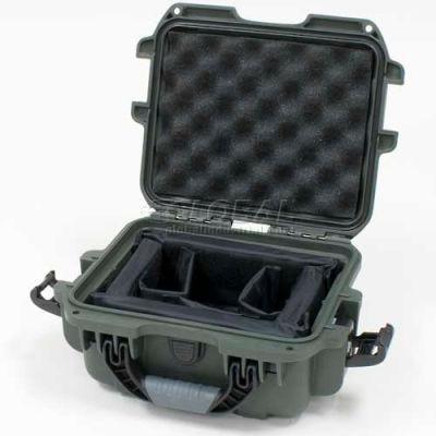 "Nanuk 905 Case w/Padded Divider, 12-1/2""L x 10""W x 6""H, Olive"