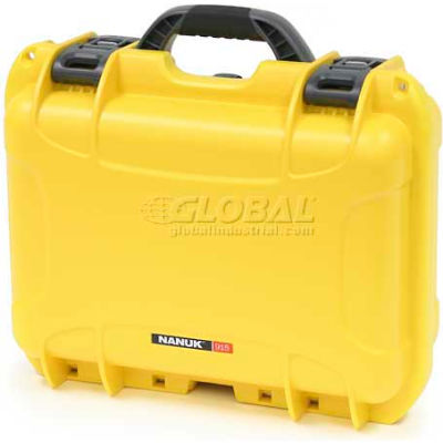 "Nanuk 915 Case, 15-3/8""L x 12-1/8""W x 6-13/16""H, Yellow"
