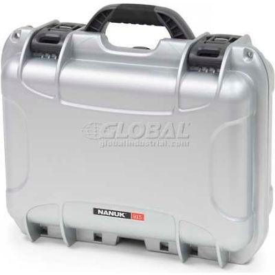 """Nanuk 915 Case, 15-3/8""""L x 12-1/8""""W x 6-13/16""""H, Silver"""