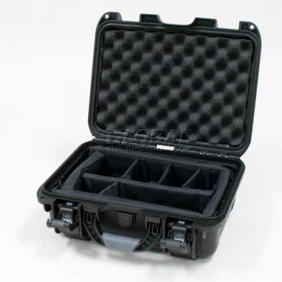 "Nanuk 915 Case w/Padded Divider, 15-3/8""L x 12-1/8""W x 6-13/16""H, Black"