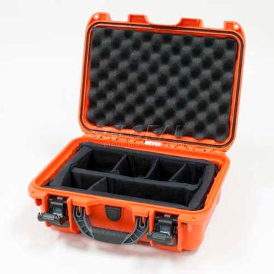 "Nanuk 915 Case w/Padded Divider, 15-3/8""L x 12-1/8""W x 6-13/16""H, Orange"