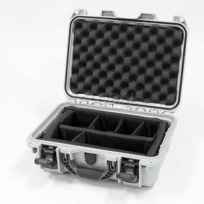 "Nanuk 915 Case w/Padded Divider, 15-3/8""L x 12-1/8""W x 6-13/16""H, Silver"