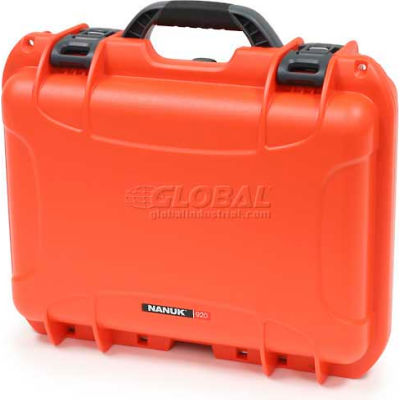 "Nanuk 920 Case, 16-11/16""L x 13-3/8""W x 6-13/16""H, Orange"