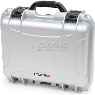 """Nanuk 920 Case, 16-11/16""""L x 13-3/8""""W x 6-13/16""""H, Silver"""
