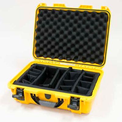 "Nanuk 925 Case w/Padded Divider, 18-11/16""L x 14-13/16""W x 7""H, Yellow"