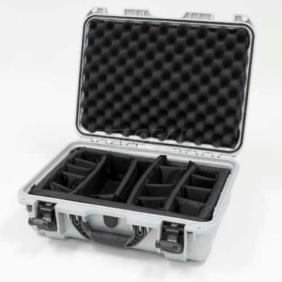 "Nanuk 925 Case w/Padded Divider, 18-11/16""L x 14-13/16""W x 7""H, Silver"
