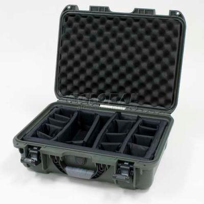 "Nanuk 925 Case w/Padded Divider, 18-11/16""L x 14-13/16""W x 7""H, Olive"
