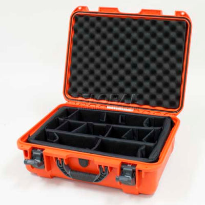 "Nanuk 930 Case w/Padded Divider, 19-13/16""L x 16""W x7-5/8""H, Orange"