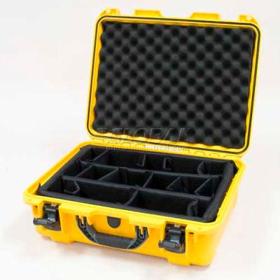 "Nanuk 930 Case w/Padded Divider, 19-13/16""L x 16""W x7-5/8""H, Yellow"