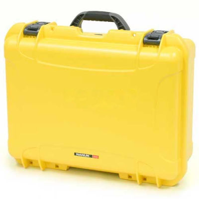"Nanuk 940 Case, 21-11/16""L x 16-7/8""W x 8-1/2""H, Yellow"