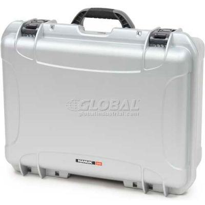 """Nanuk 940 Case, 21-11/16""""L x 16-7/8""""W x 8-1/2""""H, Silver"""