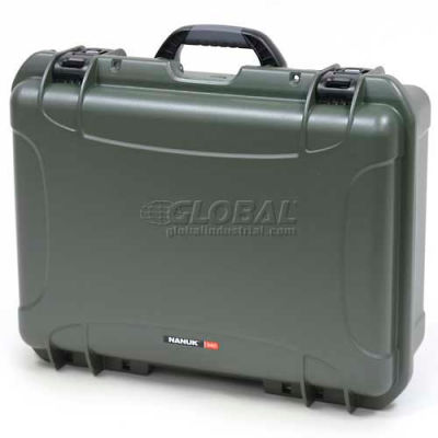 "Nanuk 940 Case, 21-11/16""L x 16-7/8""W x 8-1/2""H, Olive"